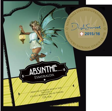 Absinthe La Valote Martin - Distinction l'Esmeralda